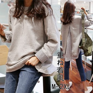 Ladies Hoody Top Layering T-shirt Casual Outerwear Korea Pullover Plain