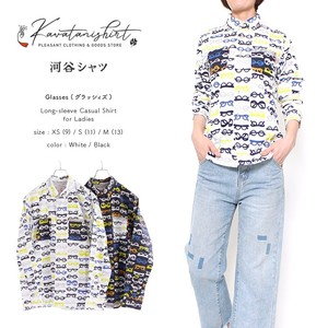 Shirt Glass Casual Long Sleeve Shirt