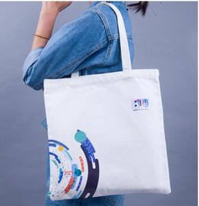 エコバッグ 帆布袋定ロゴ綿布袋教室布袋エコバッグ手提げ袋ジッパーバッグオーダーメイド