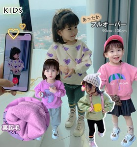Korea Children's Clothing Girl Kids T-shirt Basic Sweat Pullover Raised Back