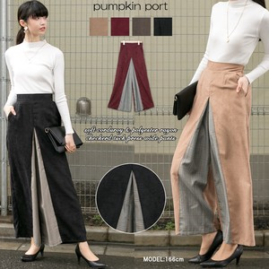 soft Checkered Tuck Press wide pants