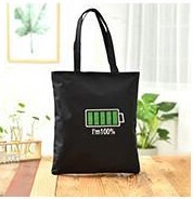 Eco Bag Alphabet Handbag Canvas Bag Ladies Bag Eco Shopping Canvas Bag