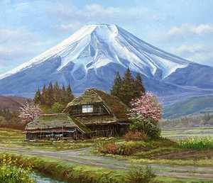 Japanese Writer Fuji None Canvas Attached