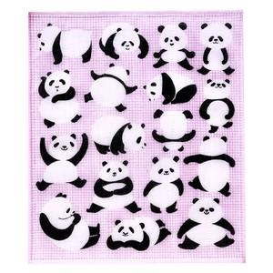 祝い紋かやのふきん「ごきげんパンダ」