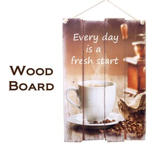 Wood Board Star Coffee