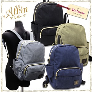A4 size Pocket Storage Backpack Ruby