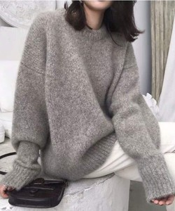 Big Silhouette Crew Neck Knitted Pullover