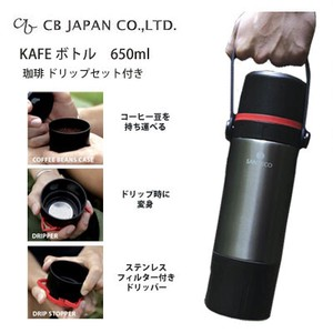 Water Flask Bottle 650ml Black Coffee Drip Set Attached [CB Japan] Bottle