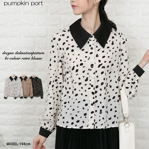 Dalmatian Bi-Color Retro Blouse