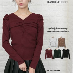 Front Shearing Power Off-Shoulder Pullover