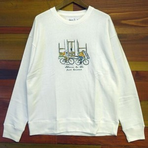 Early Spring Hand-Painted Embroidery Print Sweat Long Sleeve Sweat