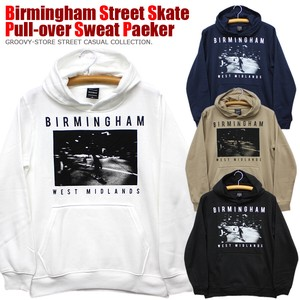 Street Print Print Raised Back Pullover Sweat Hoody