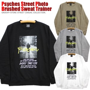 Street Print Print Raised Back Crew Neck Sweat Sweatshirt