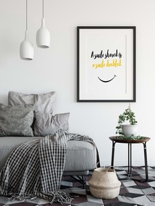Design Poster Smile Scandinavia Smile Yellow Maxim Typography