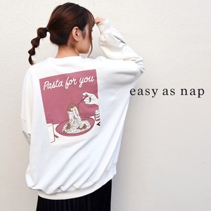 【easy as nap】【2020秋新作】Pasta for you pt BIGトレーナー