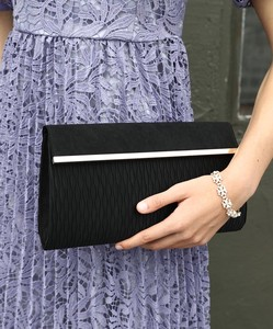 Suede Flap Deformation Pleats Clutch Bag