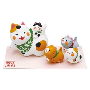 Objects and Ornaments Good Friends Parent And Child Cat Five