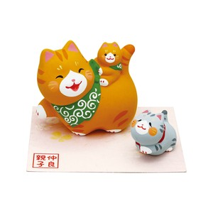 Objects and Ornaments Good Friends Parent And Child Cat Three
