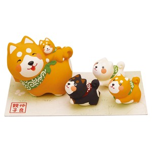 Objects and Ornaments Good Friends Parent And Child Shiba Dog Five