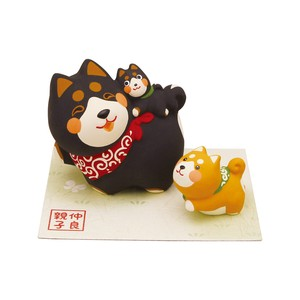 Objects and Ornaments Good Friends Parent And Child Shiba Dog Three