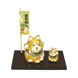 Ornaments Crystal Shiba Dog Parent And Child