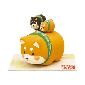 Ornament Plump Parent And Child Shiba Dog