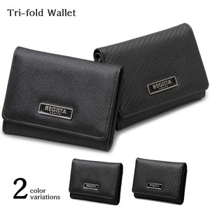 Emboss Processing Eco Leather Trifold Wallet Compact Wallet