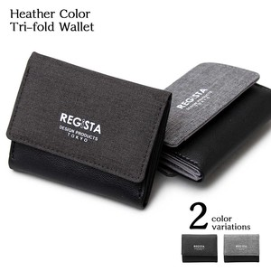 Heather Color Trifold Wallet Compact Wallet