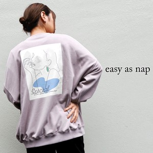 【easy as nap】【2020秋新作】Special 刺繍&プリント BIGトレーナー