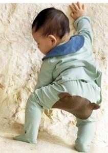 ベビー足つきパンツ Infant footed pants ( bear /cat )