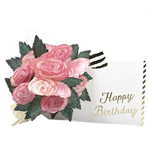 Birthday Flower Pop Card Rose