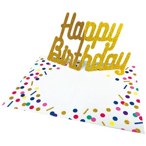 Pop Birthday Card Colorful