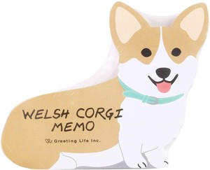 Animal Memo Pad Corgi