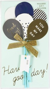 Message Gift Bouquet Balloon Mono Tone
