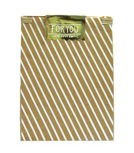 Paper Bag White Stripe