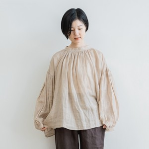 Collaboration Twill Gather Blouse