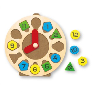 木製とけいパズル