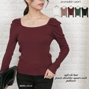 Knitted Square Neck Pullover