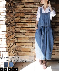 Casual Gather Design Gather Denim Pet Skirt Overall Connection