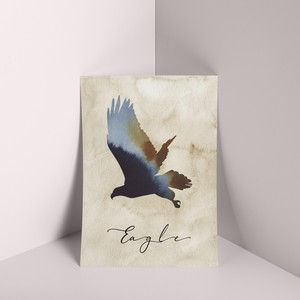 Mini Poster Eagle Nature Rustic Scandinavia