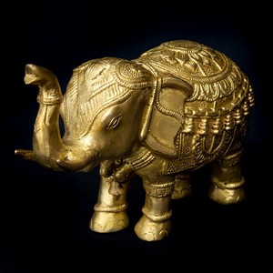Brass Decoration Attached Elephant