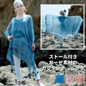Stole Attached Gauze Material Tunic