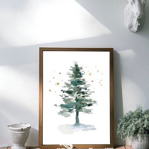 Art Poster Tree Scandinavia Botanical Plant Jupiter Watercolor