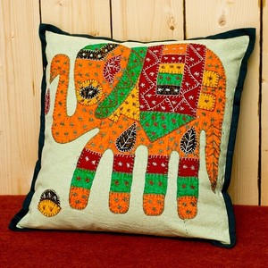 Embroidery Cushion Cover Black