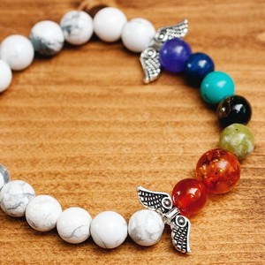 India Beads Bracelet Angel Howlite