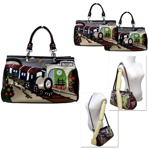 Patchwork Synthetic Leather 2-Way Fairy tale TRAIN Overnight Bag