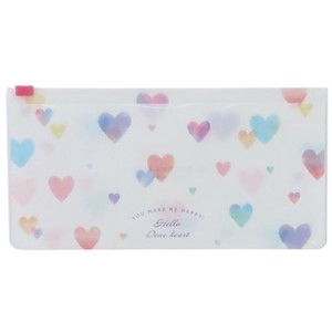 Smartphone Multi Case Antibacterial Zipper Mask Case HEART