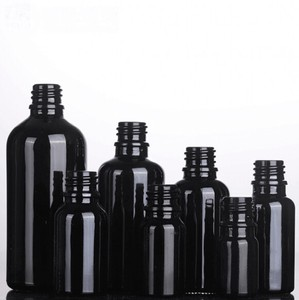Black Glass Light Shielding Black Cap Set Aroma Storage Container