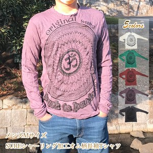Lotus Print Long Sleeve T-shirt Processing Long T-shirts Asia Ethnic