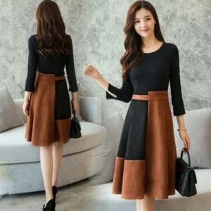 Long Sleeve Ladies Dress 2 Pcs Set A3